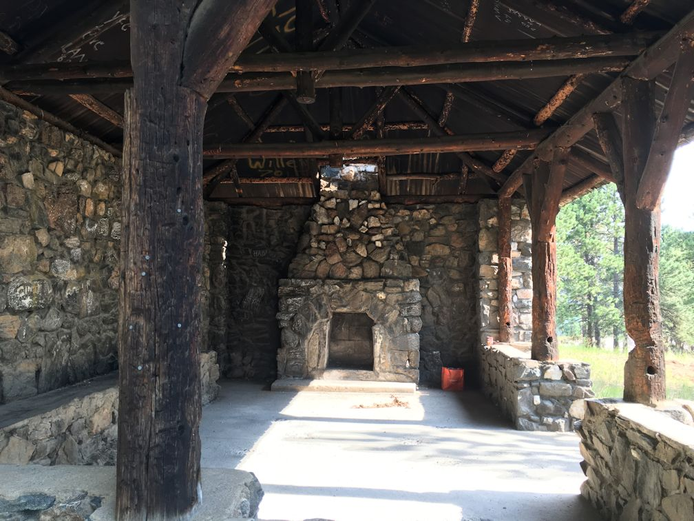Little-known Chief Hosa Shelter after cleanup, before restoration
